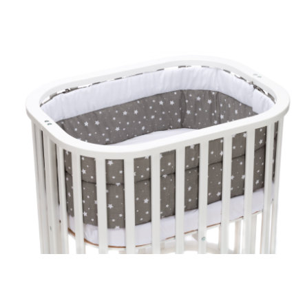 fillikid Nest crib big for crib Grow -Up stars grey