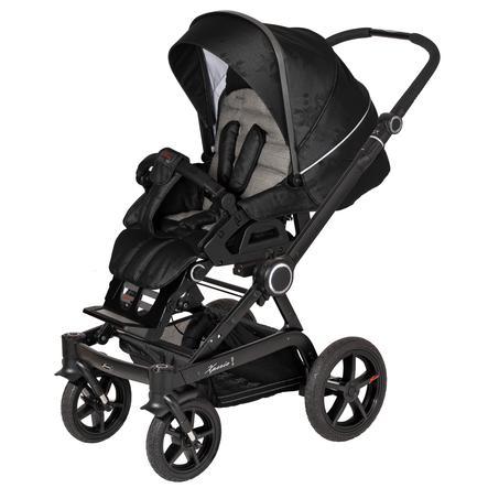 Hartan Kinderwagen Xperia GTS 2019 Black Check (618) Gestellfarbe schwarz