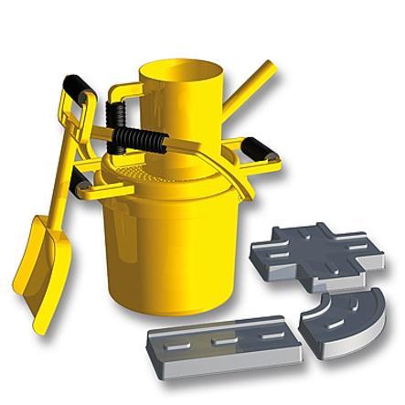 LENA Sandset Gatu-byggar-maskin 7 delar