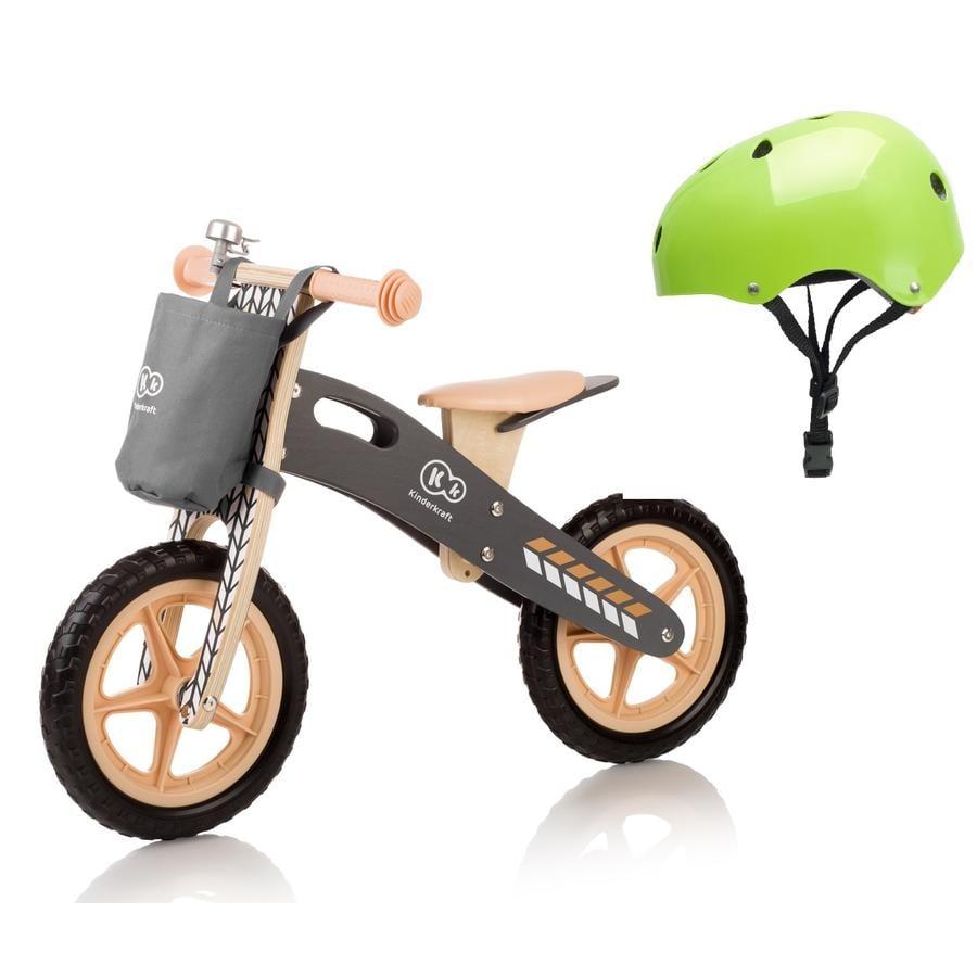 Kinderkraft - Runner bici senza pedali 12 pollici incl. elmo, marrone