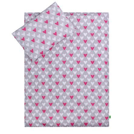 LULANDO dětské ložní prádlo srdíčka 100 x 135 cm