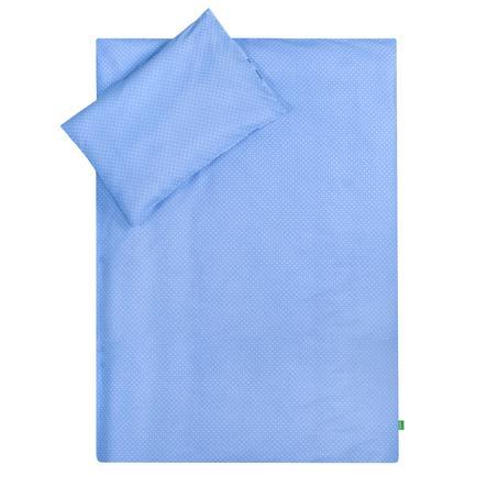LULANDO Biancheria da letto nuvola bianca con puntini bianchi azzurro 100 x 135 cm