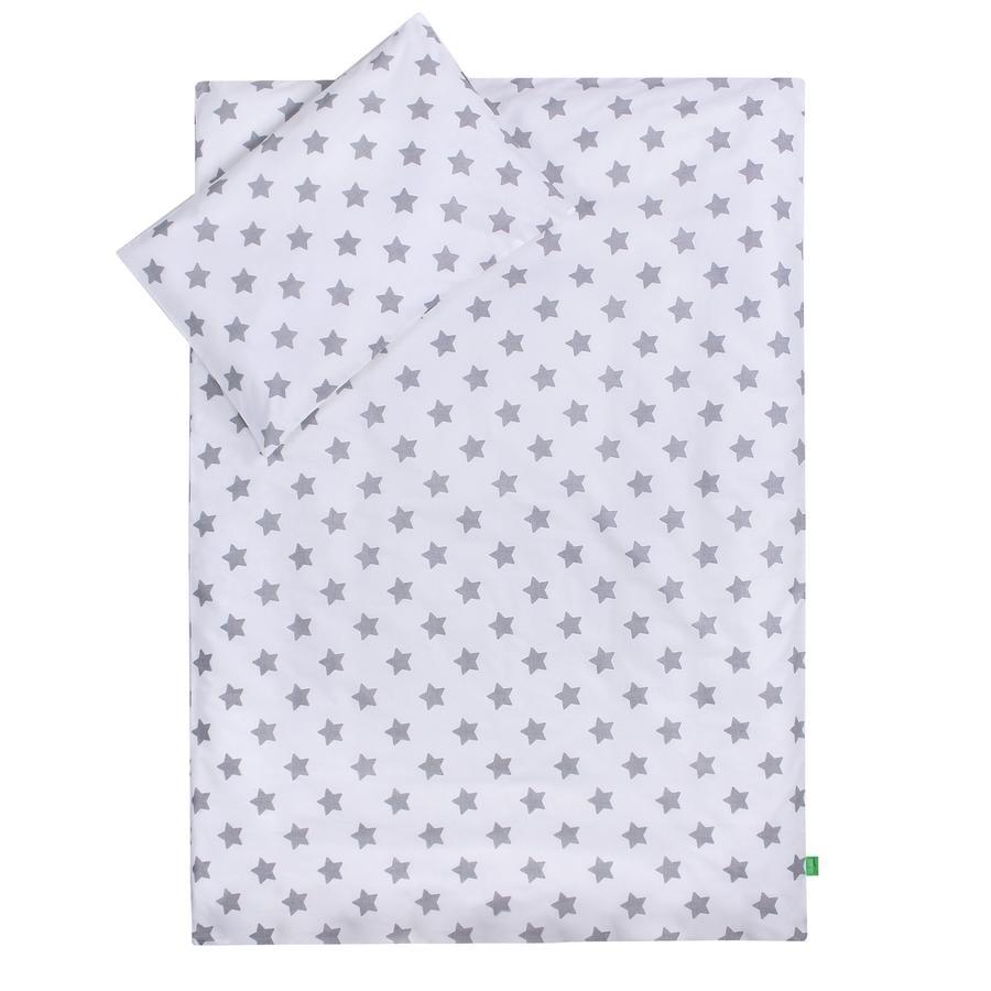 LULANDO dětské ložní prádlo hvězdičky, bílé 100 x 135 cm