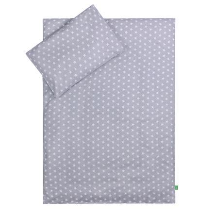 LULANDO Børnesengetøj stjerner grå 100 x 135 cm