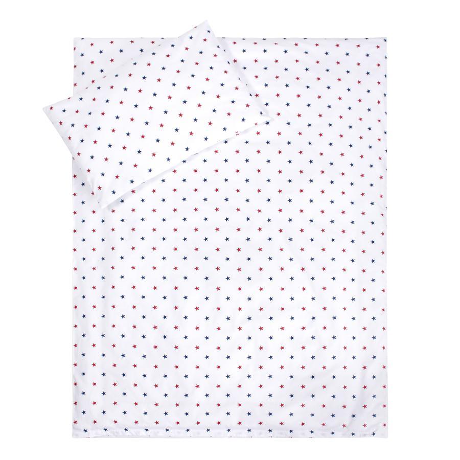 LULANDO Parure de lit enfant étoiles bleu rouge blanc 100x135 cm