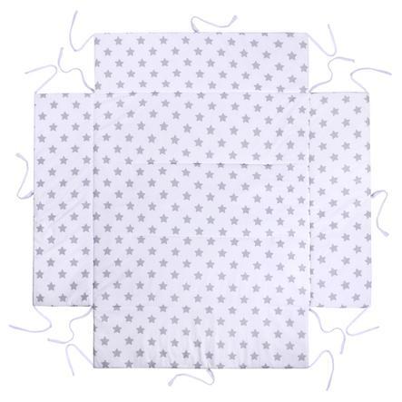 LULANDO Acolchado protector para parque infantil Estrellas blanco 100 x 100 cm
