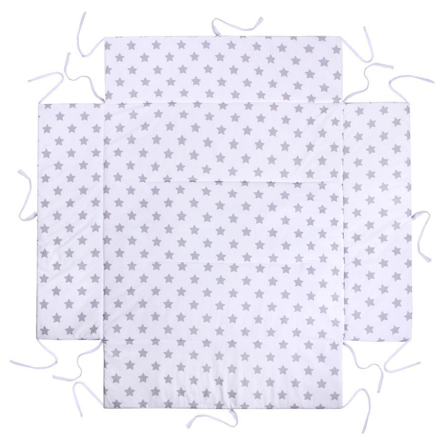 LULANDO vložka do ohrádky hvězdičky bílé 100 x 100 cm