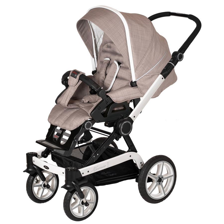 Hartan Kinderwagen Xperia GTS mit Handbremse Little Family (636) Gestellfarbe weiß