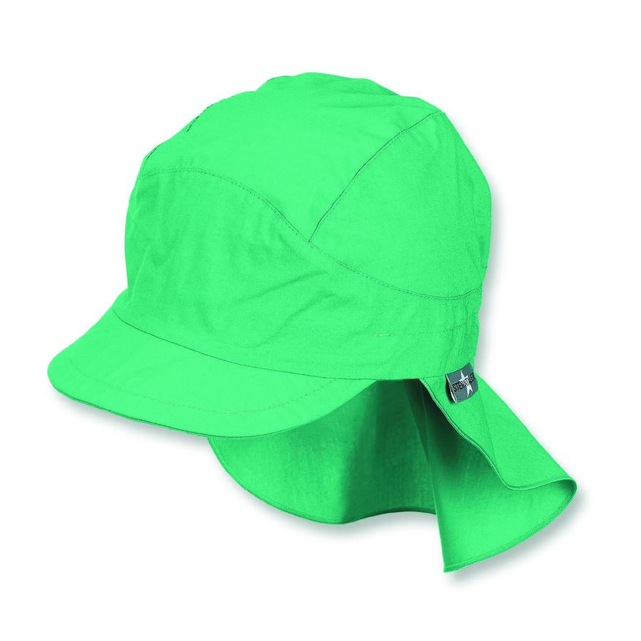 Sterntaler gorra de puntas con protección para el cuello de menta