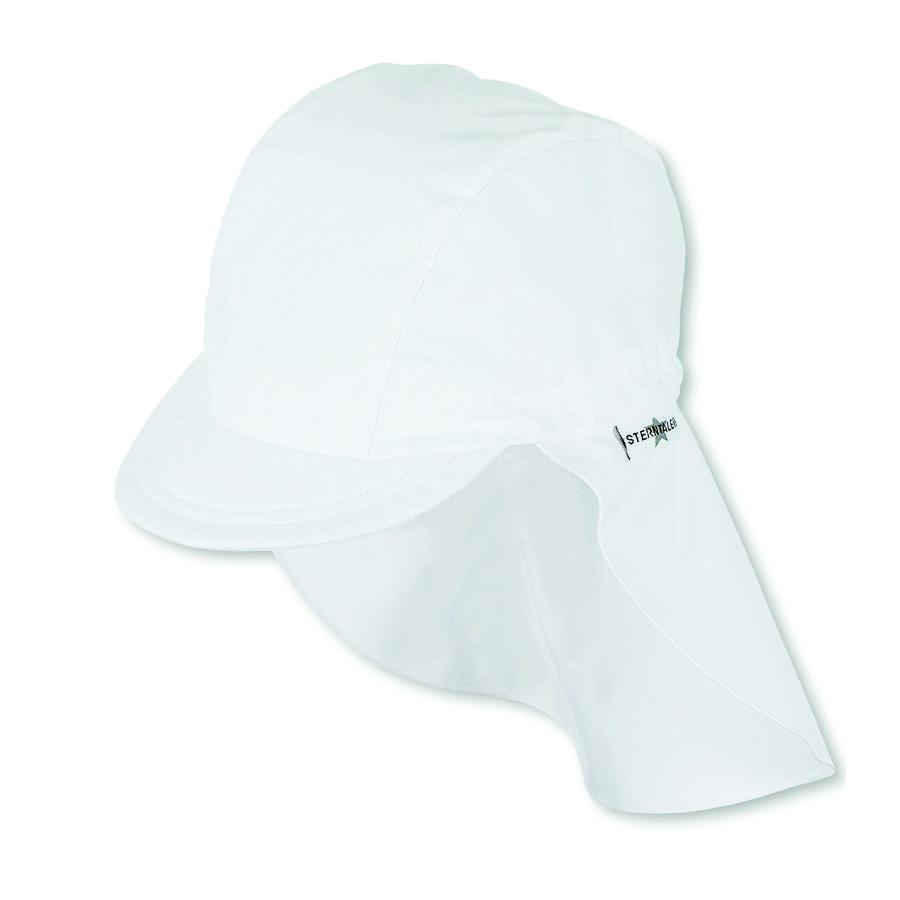 Sterntaler czapka szczytowa z osłoną na szyję w kolorze białym