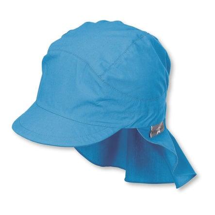 Sterntaler Bonnet pare-soleil étoiles velours bleu