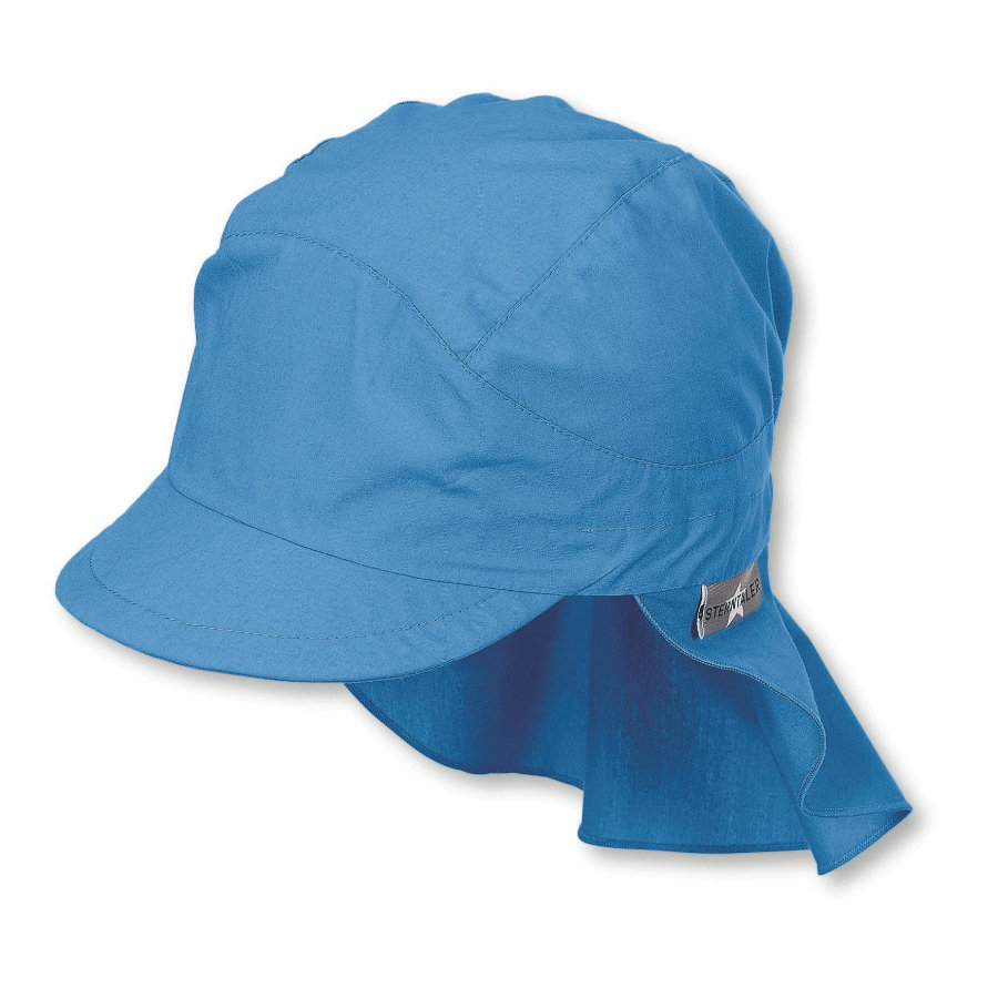 Sterntaler Gorra estrellas terciopelo azul