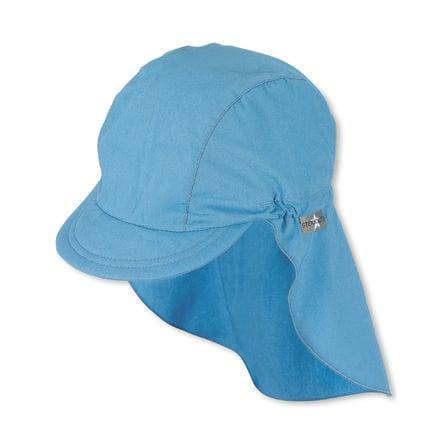 Sterntaler Cappuccio visiera con protezione collo in velluto blu