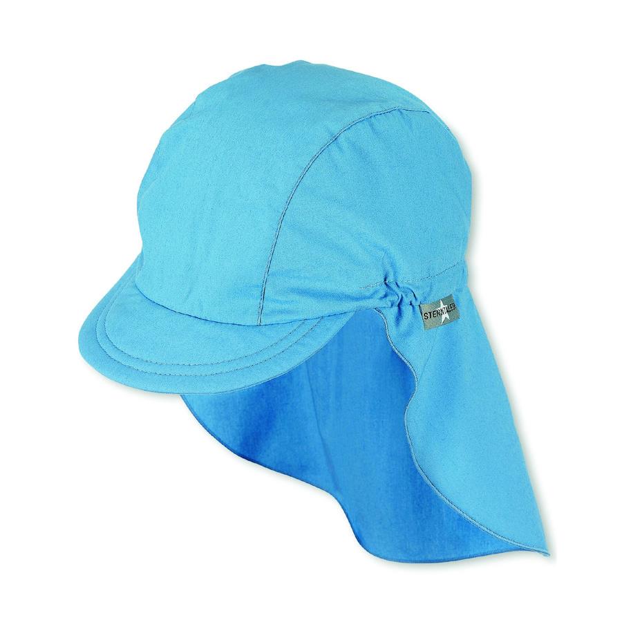 Sterntaler Vizierkap met nekbescherming fluweelblauw