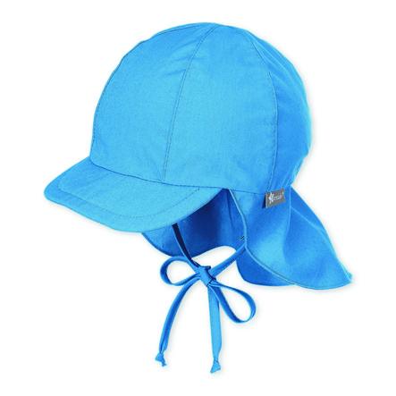Sterntaler peaked cap stjerner fløjl blå