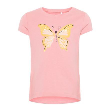 name it Girl s T-Shirt Veen geranium roze