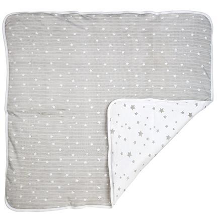 DIMO-TEX Knuffeldeken sterren grijs