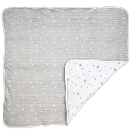 DIMO-TEX Mantita de peluche estrellas grises