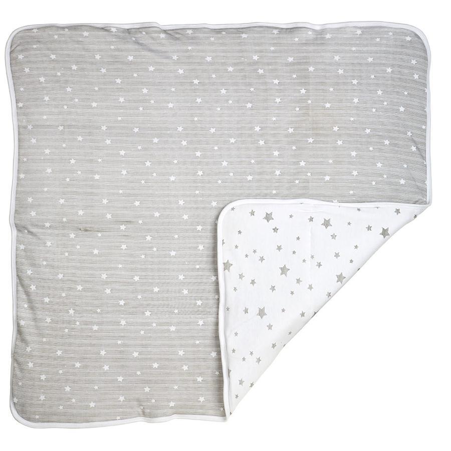 DIMO-TEX Kuscheldecke Sterne Grau