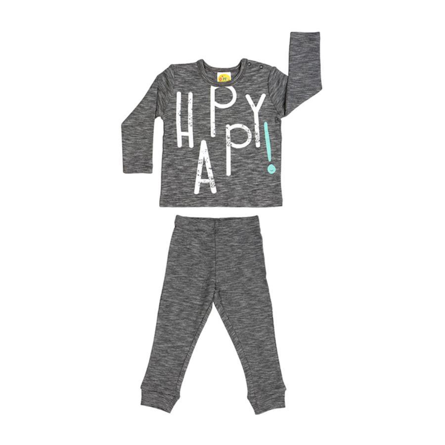 DIMO-TEX Schlafanzug 2tlg. Happy grau