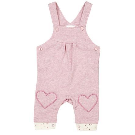 DIMO-TEX Pantalón de peto corazón rosa