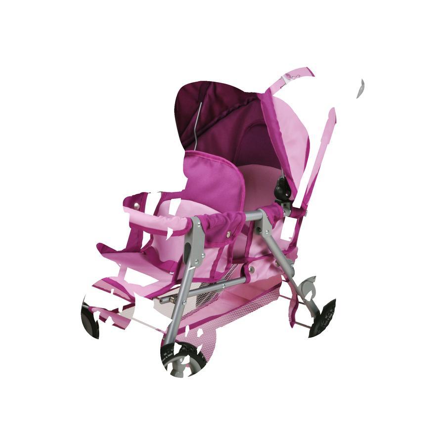 knorr® toys Tvillingdockvagn Big Twin - Enhörningen Uma