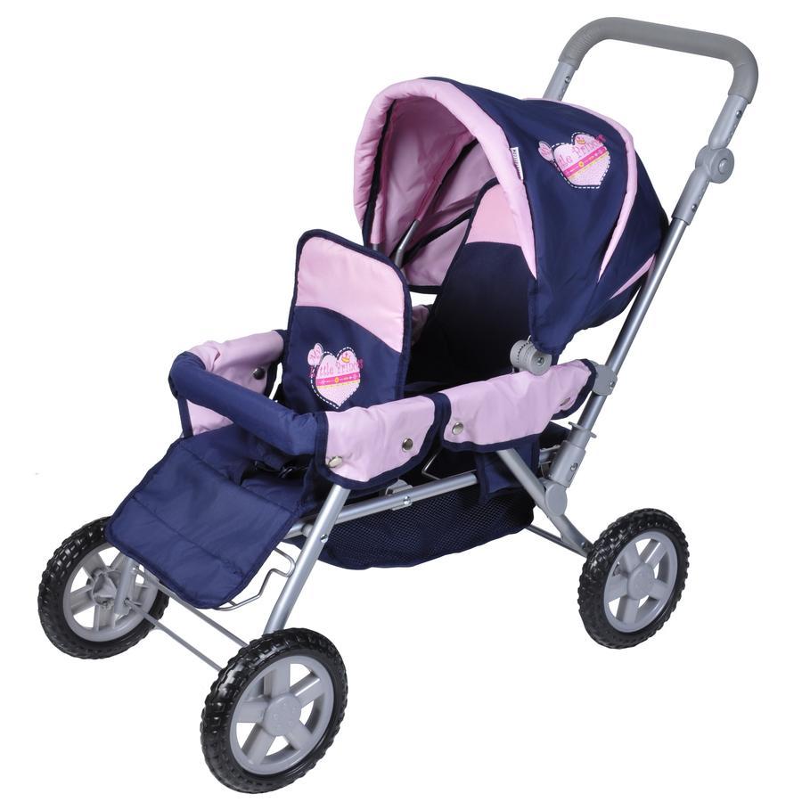 knorr® toys Nuken kaksosvaunut Big Twin- My Little Princess
