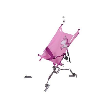 knorr® hračky panenka kočár Sim - Uma jednorožec růžová