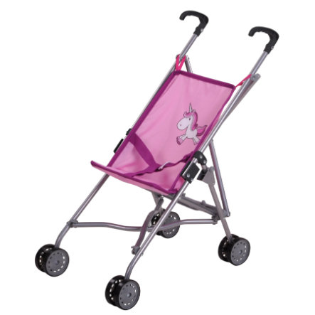 knorr® toys Puppenbuggy Sim - Uma das Einhorn pink