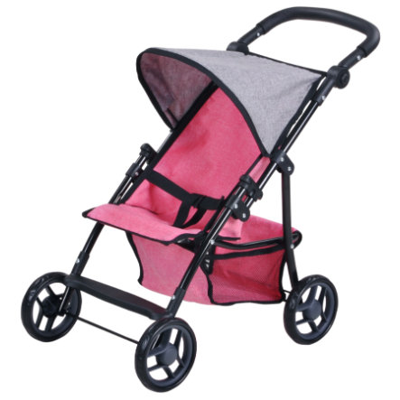 knorr® toys Puppenbuggy Liba - jeans pink