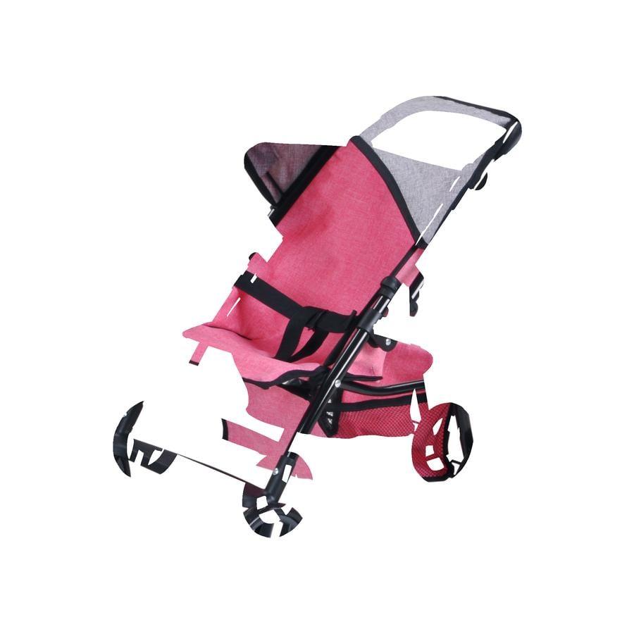 knorr® toys Dockvagn Liba - jeans pink
