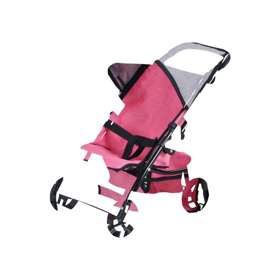 knorr® toys Wózek spacerowy dla lalki Liba - jeans pink