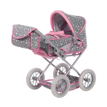 knorr® toys Poppenwagen Ruby star grey