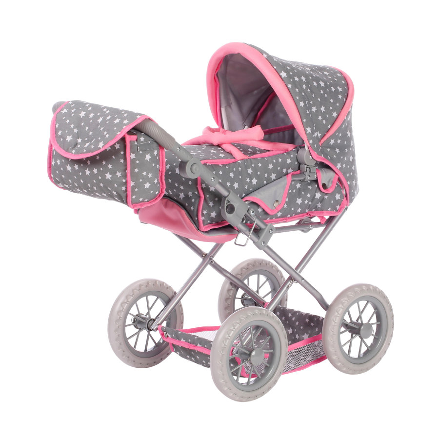 knorr® toys Wózek dla lalek Ruby - Star grey