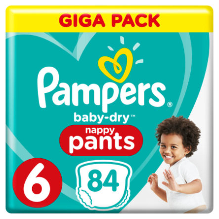 Pampers Baby Dry nappy Pants Gr. 6 Extra Large 84 Windeln 15+ kg Giga Pack
