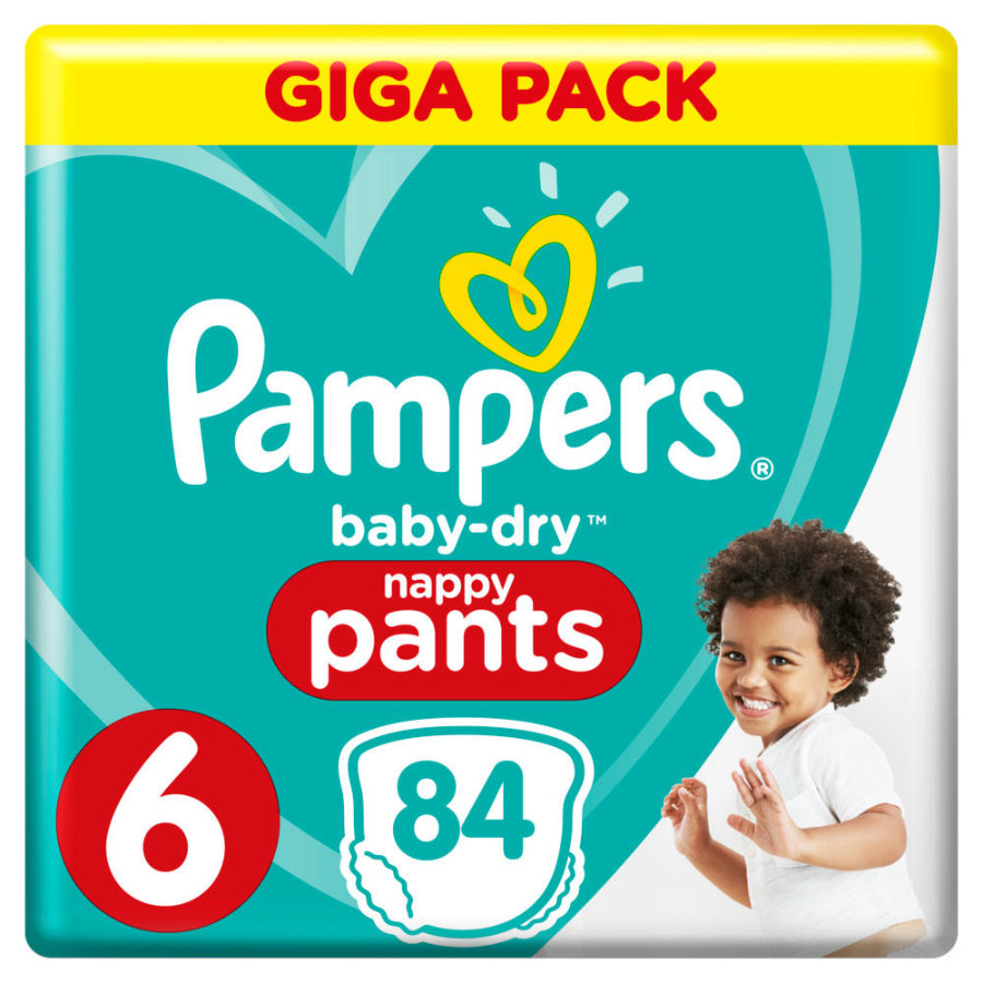 Pampers Baby Dry Pants Gr. 6 Extra Large 84 Windeln 15+ kg Giga Pack