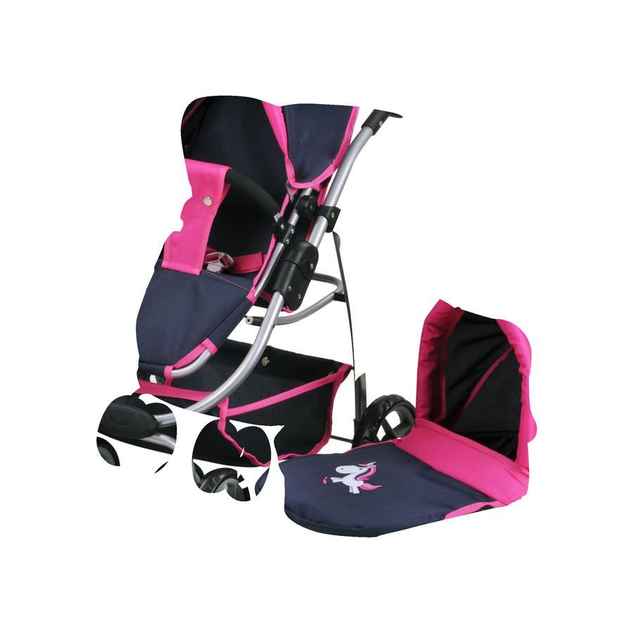 knorr® toys Puppenwagen Coco - Uma das Einhorn blue