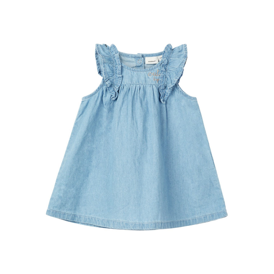 name it Girl s Dress Asoya Light Blue Denim Robe Asoya