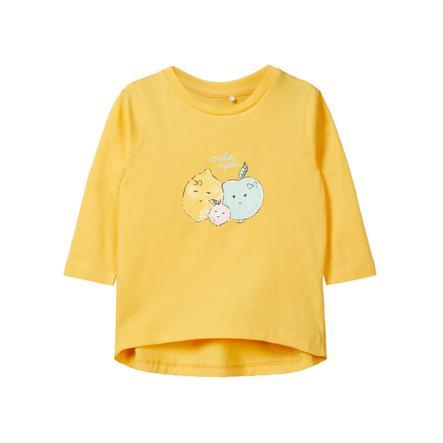 name it Girl s Shirt met lange mouwen Dana bleke mariagold