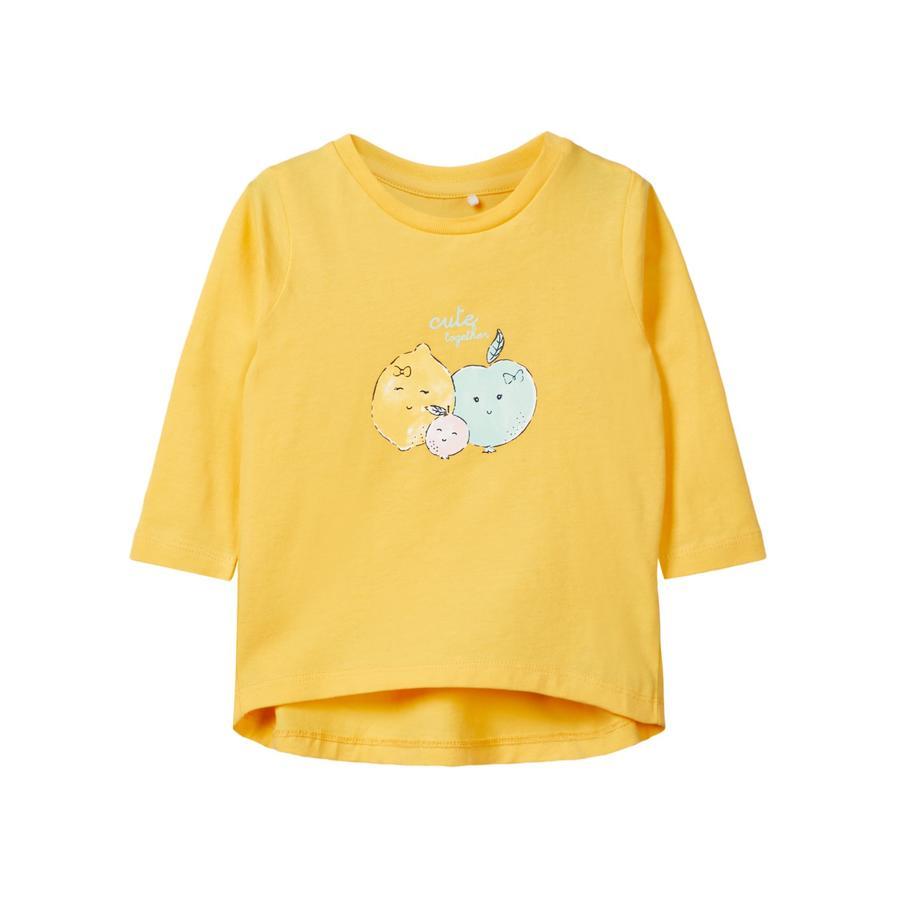 name it Girl s Camisa de manga larga Dana pálida mariagold