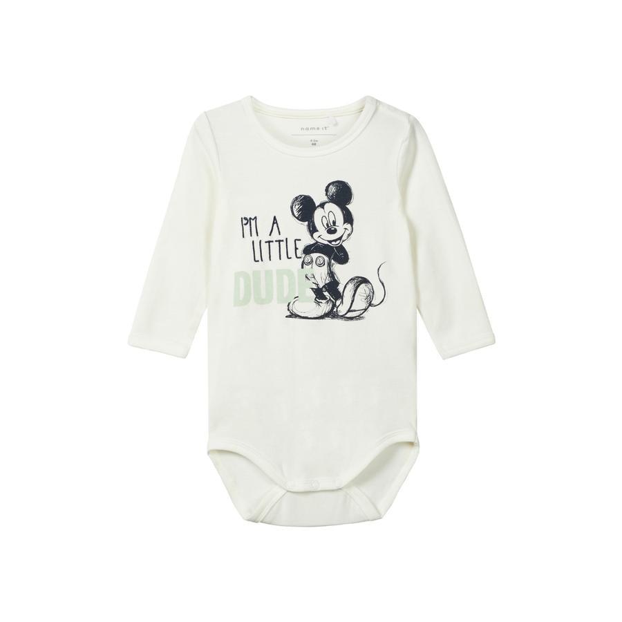 name it Boys Body Disneys Mickey manches longues blanc neige Mickey
