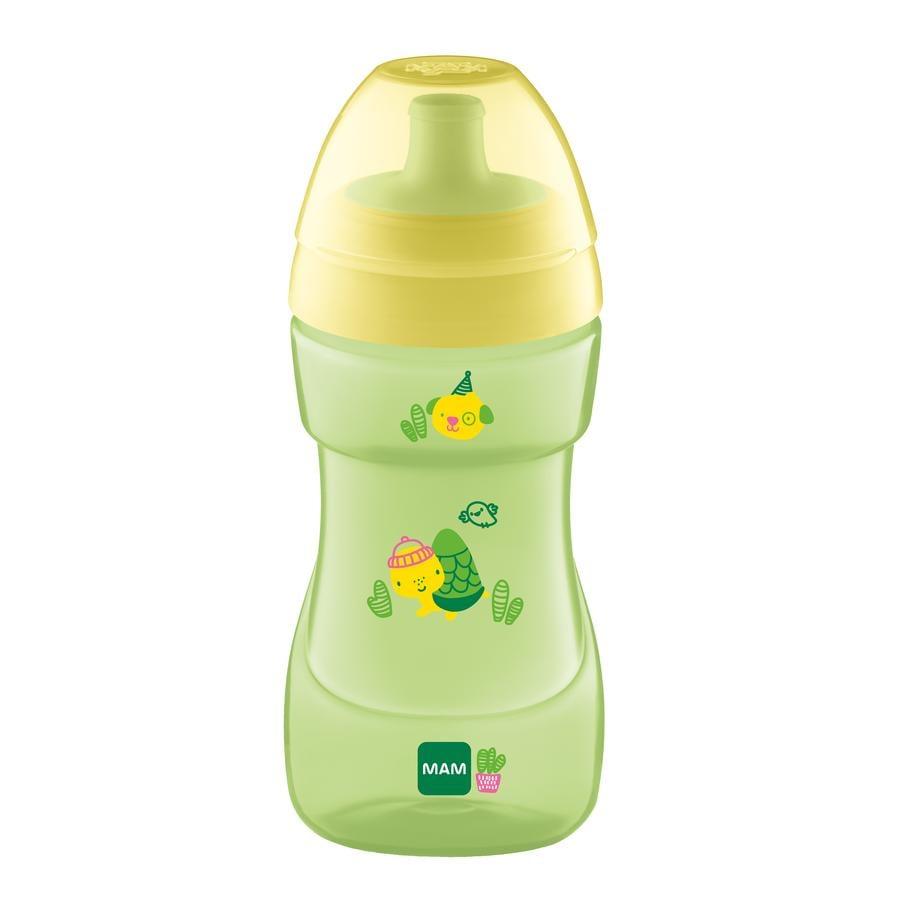 MAM Flasche Sports Cup gelb / grün 330 ml ab 12 Monaten