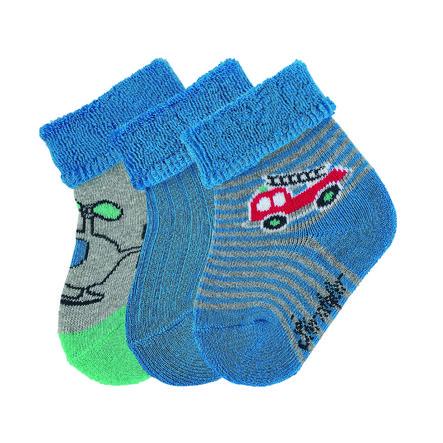 Sterntaler Boys Baby sokken 3-pack 3-pack brandweer blauw