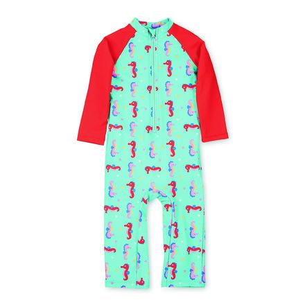 Sterntaler Schwimmanzug lang Seepferdchen meeresblau
