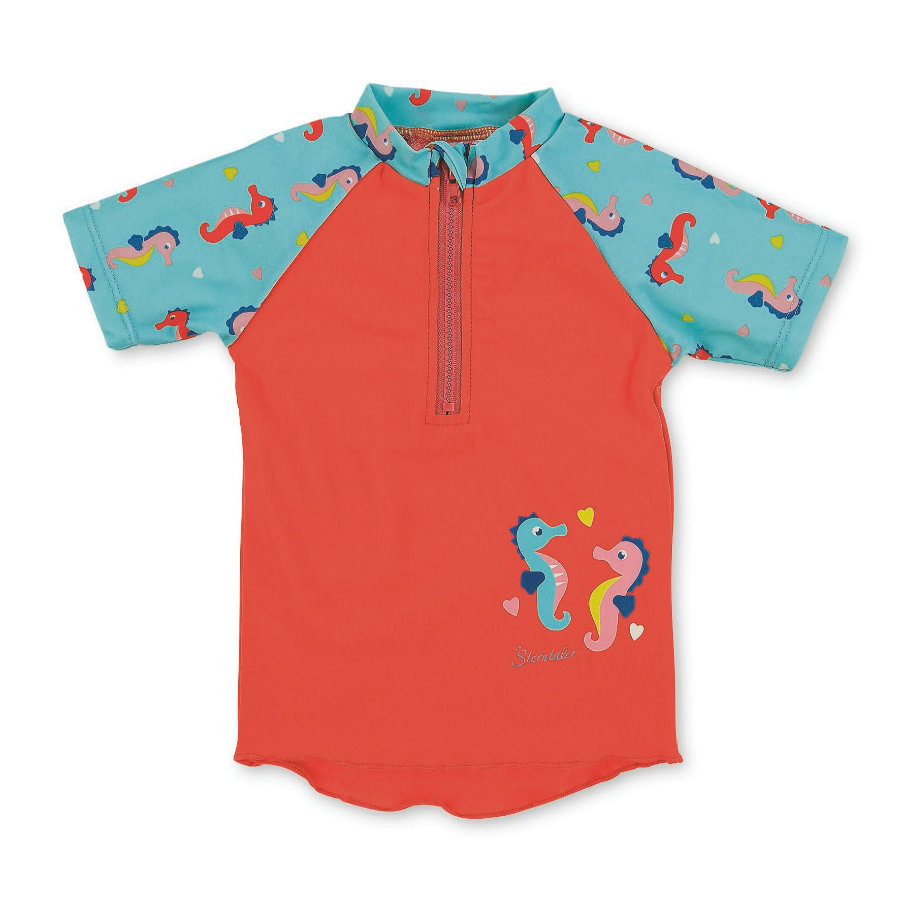 Sterntaler Krótka koszula kąpielowa z krótkim rękawem, niebieski morski