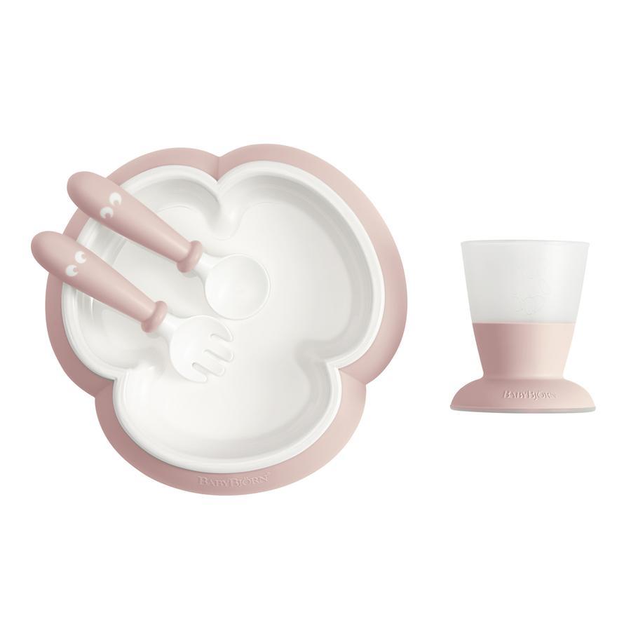BABYBJÖRN Zestaw naczyń pastelowy, różowy