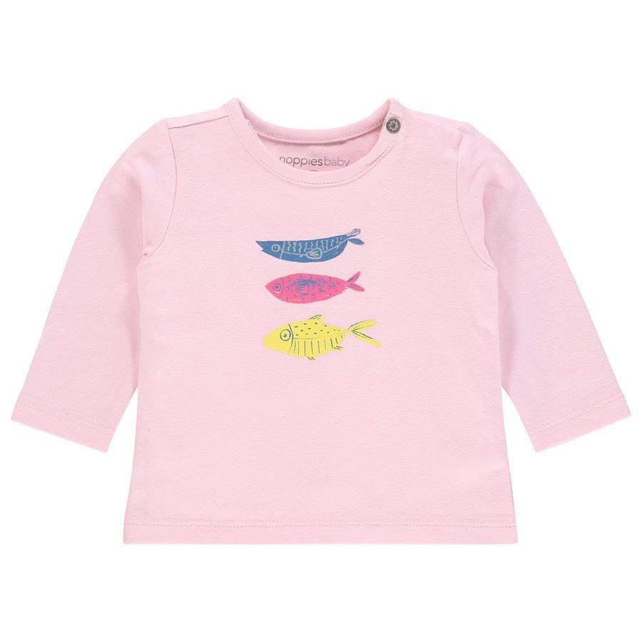 noppies Langarmshirt Rogers Flamingo