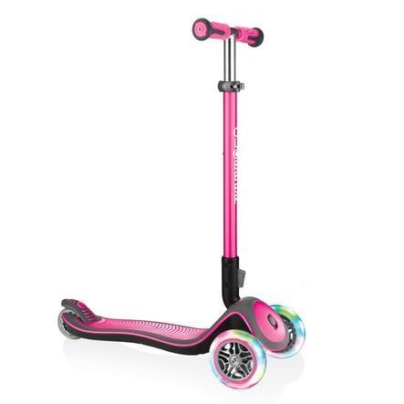 Globber Scooter Elite Deluxe mit Leuchtrollen, pink