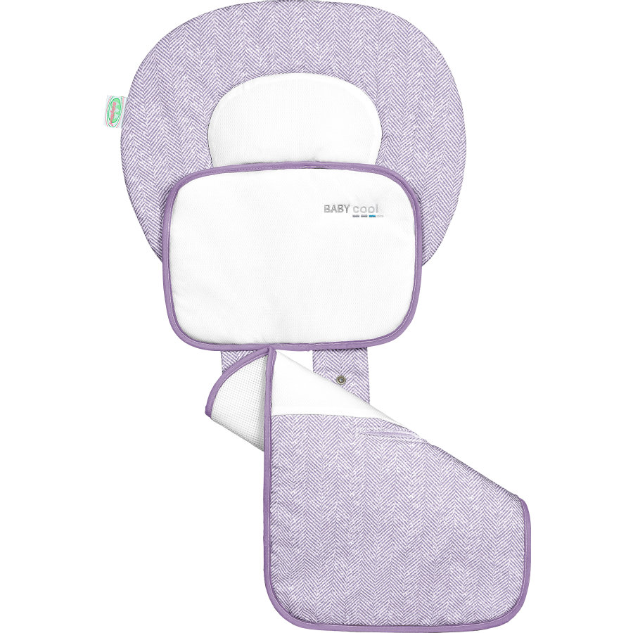 odenwälder Sommarsittdyna till barnvagn Babycool, New Woven violett
