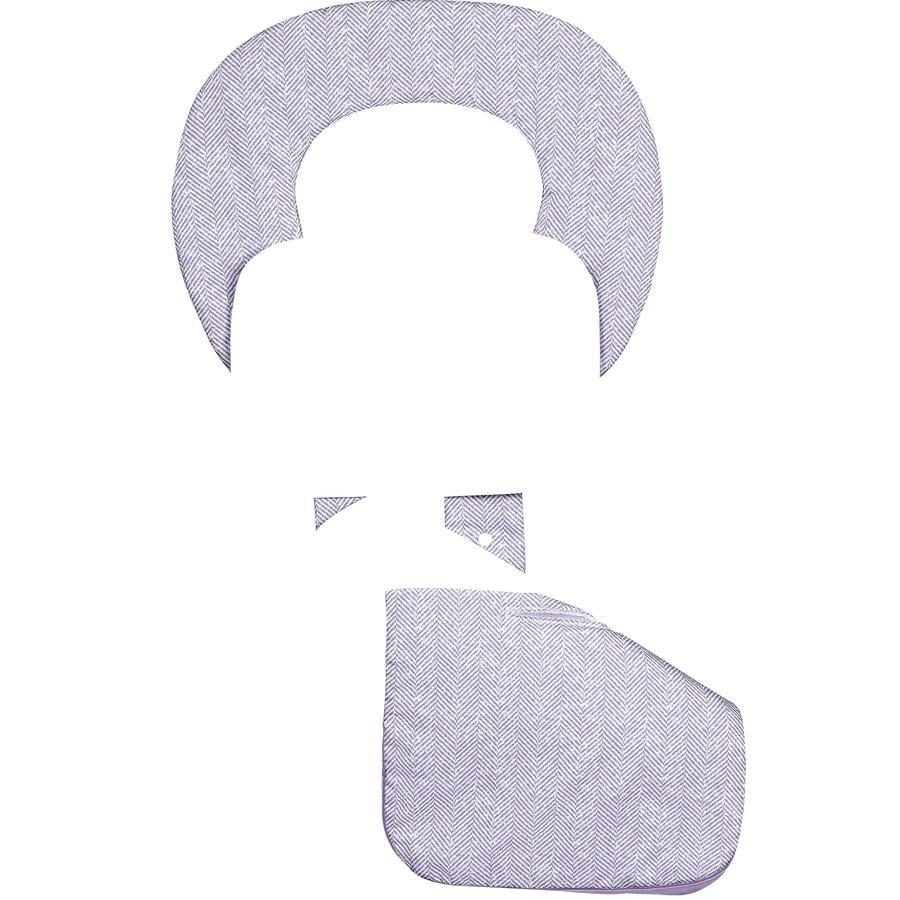 odenwälder Sommer Kinderwagenauflage ergonomisch Babycool, New Woven violett